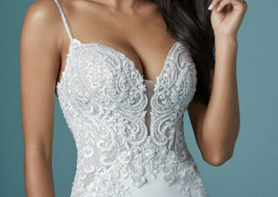 Neckline of Juanita Louise by Maggie Sottero